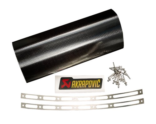 Akrapovic racing muffler sleeve kit cf gsxr1000 yzf r6 r6s for Yamaha r6 carbon fiber exhaust