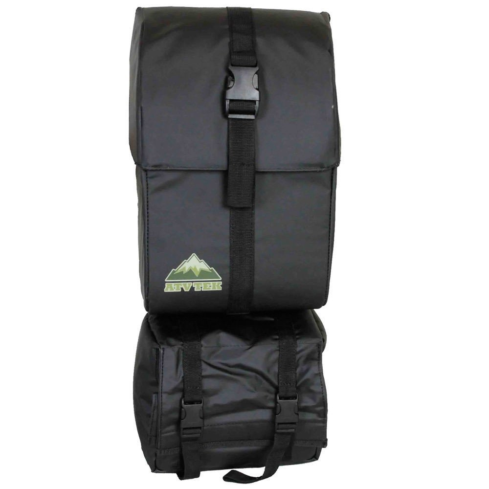 atv tek arch series fender cargo bag black for atv utv universal afblk black ebay. Black Bedroom Furniture Sets. Home Design Ideas