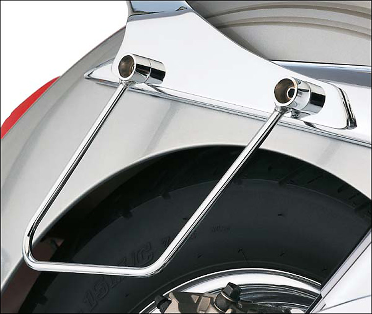 Cobra saddlebag supports pair chrome for yamaha stryker for Yamaha stryker saddlebags