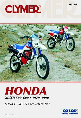 Clymer Repair Manual For Honda XL XR 500-650 79-90