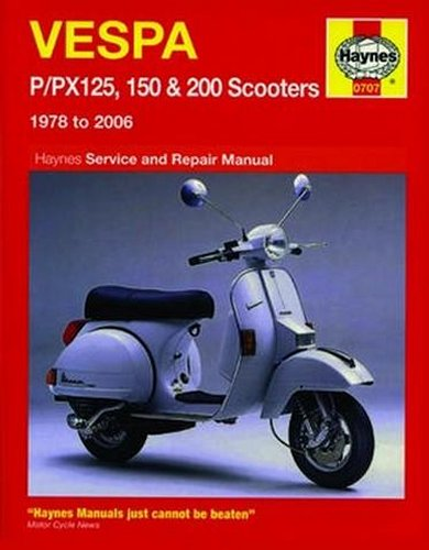 haynes repair manual for vespa p  px 125 150 200 78 06 Vespa PX 200 Lusso vespa px 200 owners manual