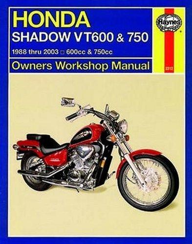 haynes repair manual for honda shadow vt600 vt750 88 03 ebay. Black Bedroom Furniture Sets. Home Design Ideas
