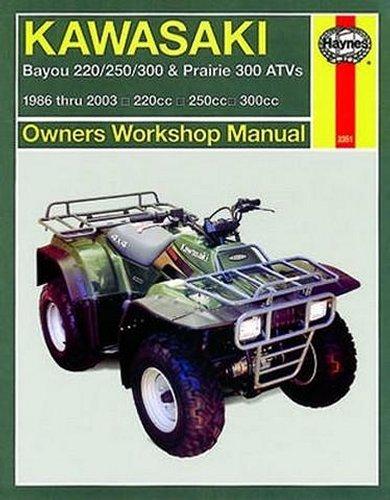 Haynes Repair Manual For Kawasaki Prairie Bayou 86-03