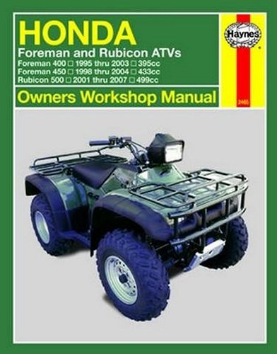Haynes Repair Manual For Honda Foreman Rubicon 95
