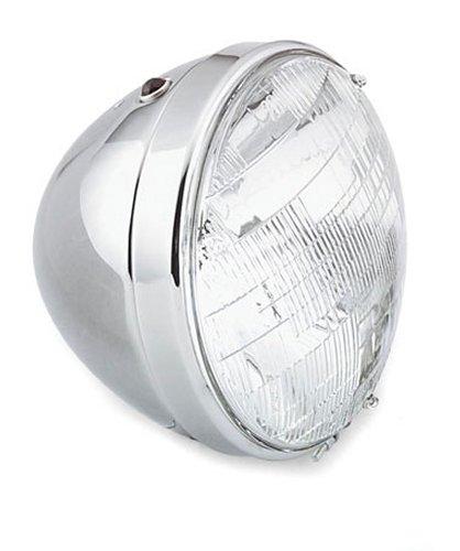 Paughco-Bullet-Headlight-7-Inch-Chrome-For-Harley-Davidson