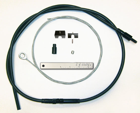 Harley Clutch Cable Repair Kit : Magnum byo clutch cable black for harley flst fxd fxst