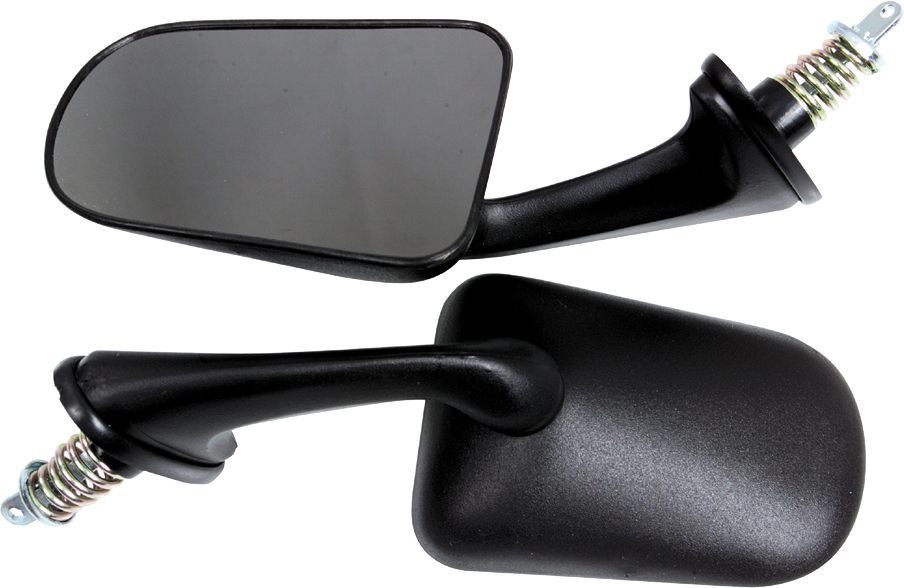 Snowmobile Side Mirrors : Spi oval shape snowmobile side mirrors pair for polaris