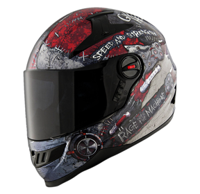 Speed And Strength SS1300 Rage With The MacHine Full Face Helmet